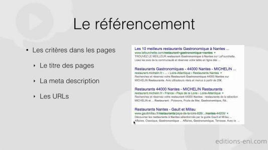 Le référencement – Créez votre premier site web – De la conception à la réalisation